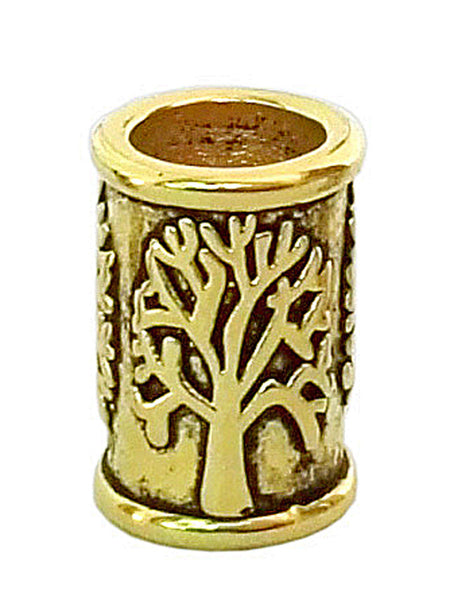 New! Tree of Life Hair Bead - Gold
