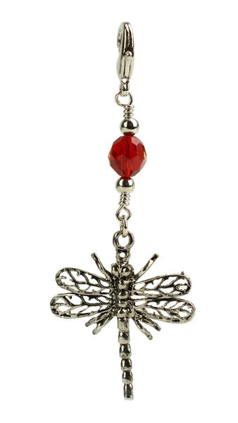 Charm Large Silver - Dragonfly