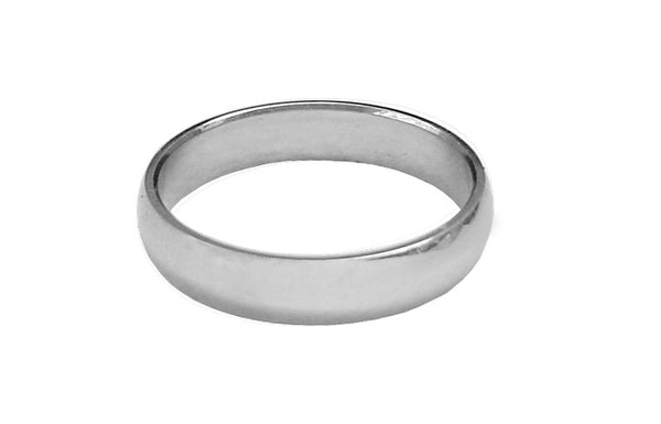 Medieval Metal - Thin Band Ring Front View (R-TN-S)