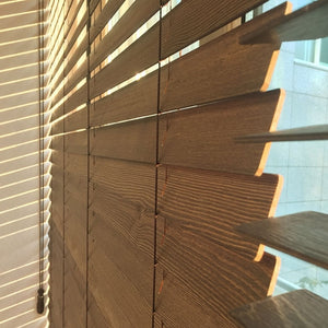 Wooden Korean Blinds WIndow Treatment Close Up by WIN.US