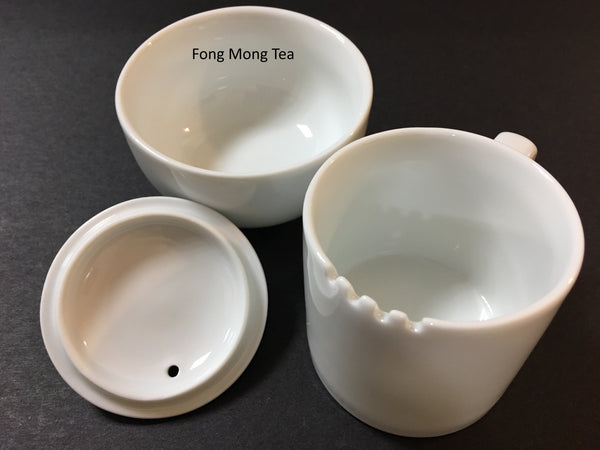 Fong Mong Tea-1 Set of Professional 150ml International Standard White Ceramic Tea Tasting Cup SOLD AT COST (MIT Product)