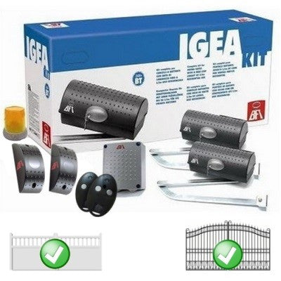 230v BFT Igea Automated Gate Kit
