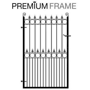 Arundel Metal Garden Gate. Premium frame, made to measure in the UK