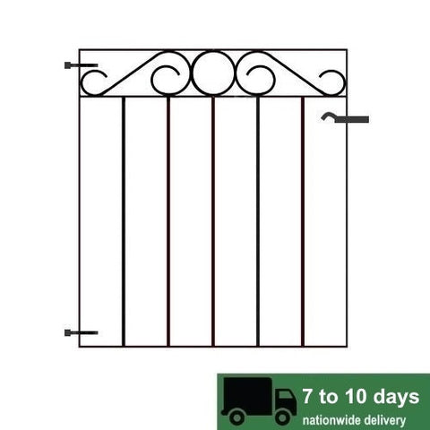 Ironbridge Garden Gate. Cheap metal garden gate in stock ready for delivery.