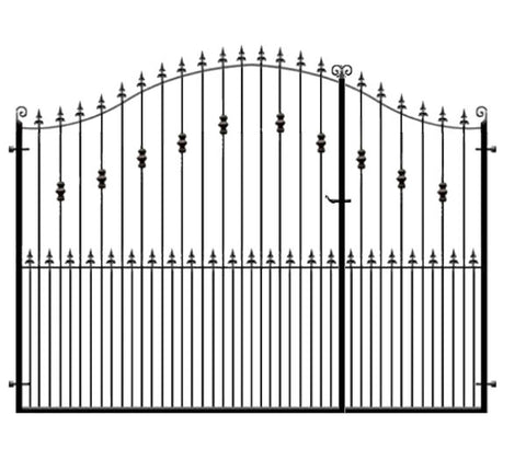 Split Entrance Gates - The Wentworth. Lovingly handcrafted in the UK to any width or height and delivered nationwide.