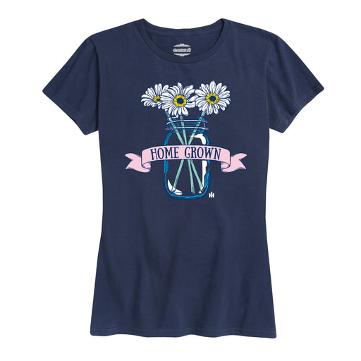 Home Grown Mason Jar Flowers - Women's Short Sleeve T-Shirt