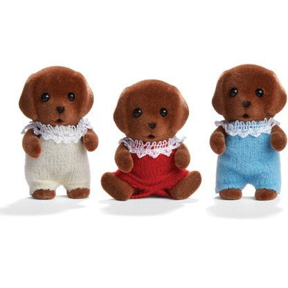 Calico Critters Chocolate Labrador Triplets- - Anglo Dutch Pools & Toys  - 1