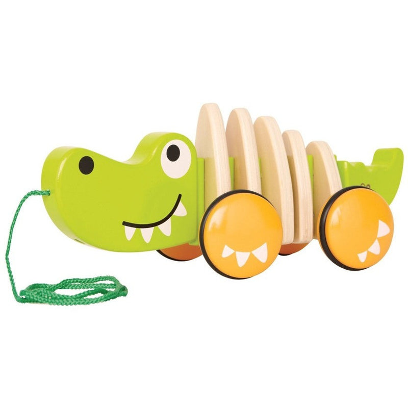 Hape Walk-A-Long Croc - Push, Pull, and Ride-On Toys - Anglo Dutch Pools and Toys