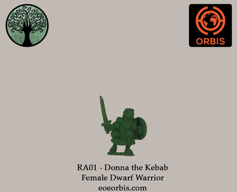 RA01 - Donna the Kebab - Female Dwarf Warrior