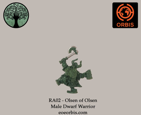 RA02 - Olsen of Olsen - Male Dwarf Warrior