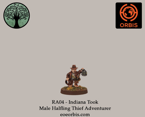 RA04 - Indiana Took - Male Halfling Thief Adventurer