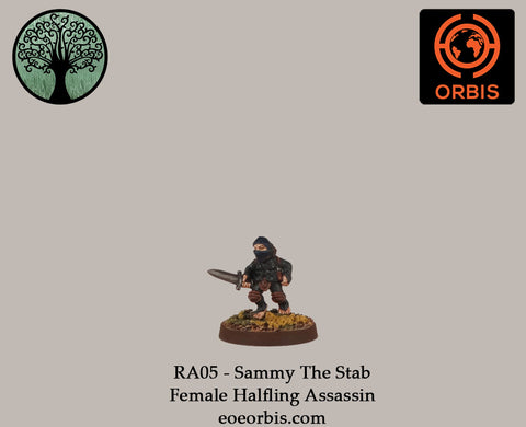 RA05 - Sammy The Stab - Female Halfling Assassin