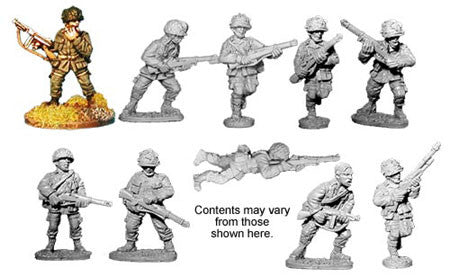 U.S. Para Squad (10)<br> <EOL>Squad contains 7 different Riflemen, 1 SMG and 2 Bargunners