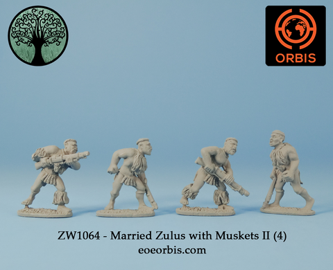ZW1064 - Married Zulus with Muskets II (4)