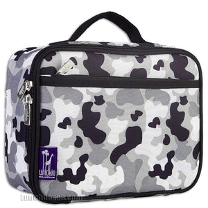 Gray Camo Insulated Lunch Box