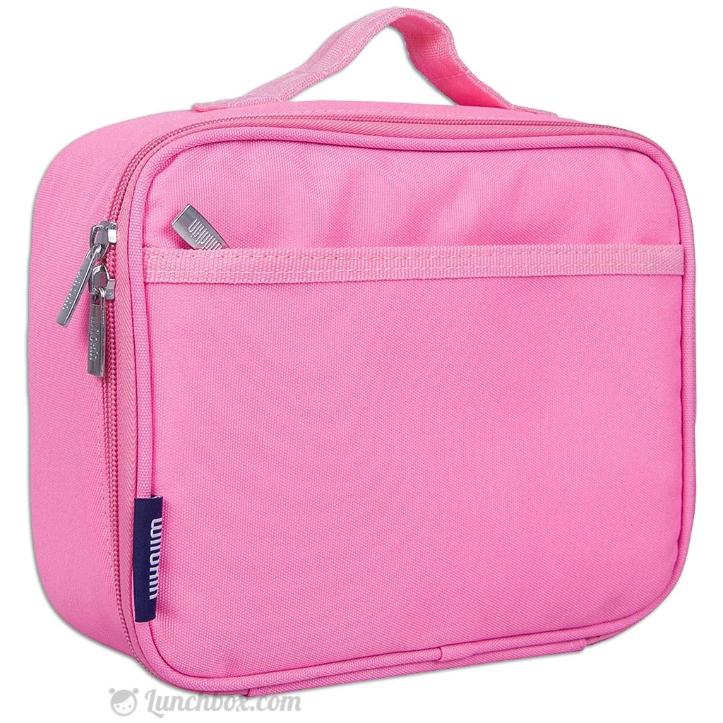 Child's pink lunch box to use as sensory story prop.
