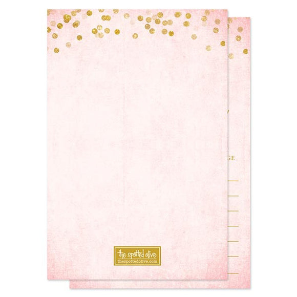 Advice for the Bride Cards - Blush Pink & Gold Confetti