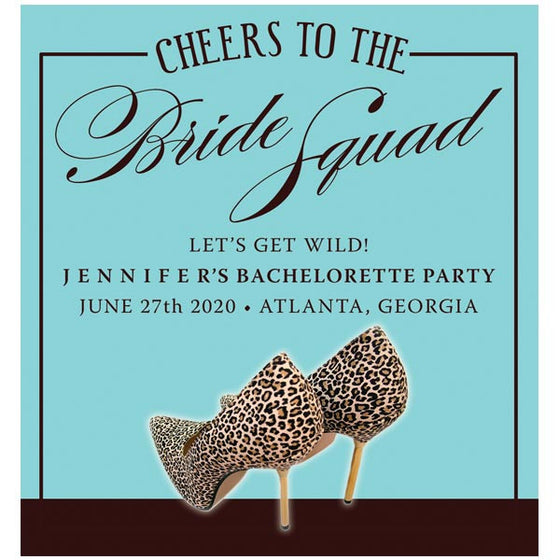 Leopard Print Shoes Bachelorette Party Wine Labels by The Spotted Olive