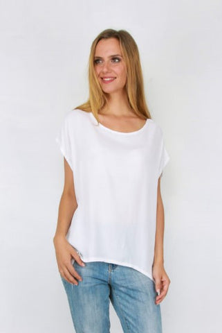 Jane Scoop Top WHITE