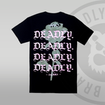 DEADLY. Floral T-shirt (With Back Print) - S ONLY