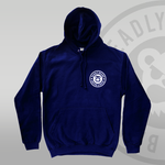 Deadly Brand fade hoodie navy yellow to red front print