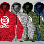 Deadly Camo Pullover Hoodie Various Colours red blue green grey
