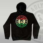 Deadly Brand Chilled Vibes Pullover Hoodie red yellow green