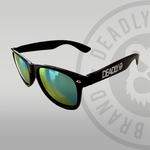 Deadly Sunglasses Black with Gold Lenses