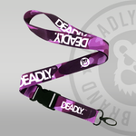 Deadly Brand Clothing Deadly Camo Camouflage Lanyard purple