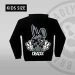 Youth / Kids Deadly Bunny Pullover Hoodie back print