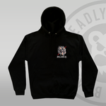 DEADLY. Wolf Pullover Hoodie Deadly Brand front chest print