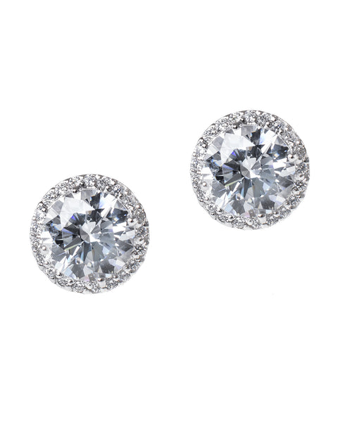 Petite Halo Stud Earrings