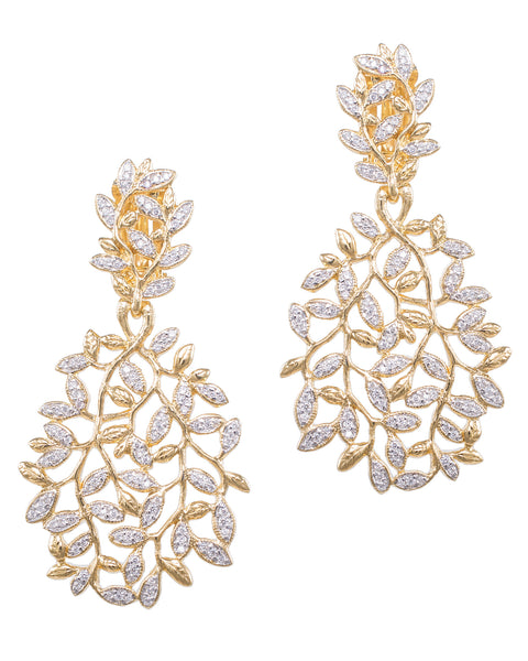 Grecian Pave Earrings