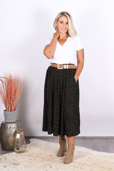 Carter Skirt in Khaki