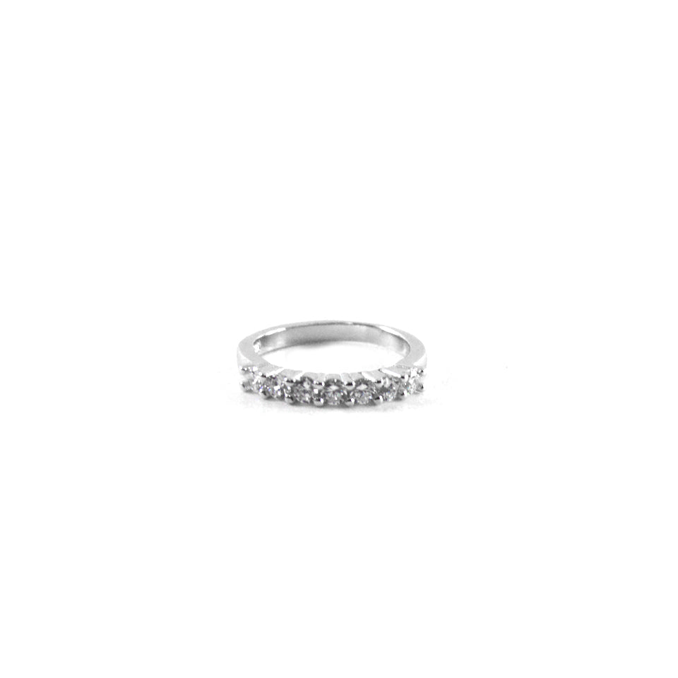 Pretty CZ Silver Ring