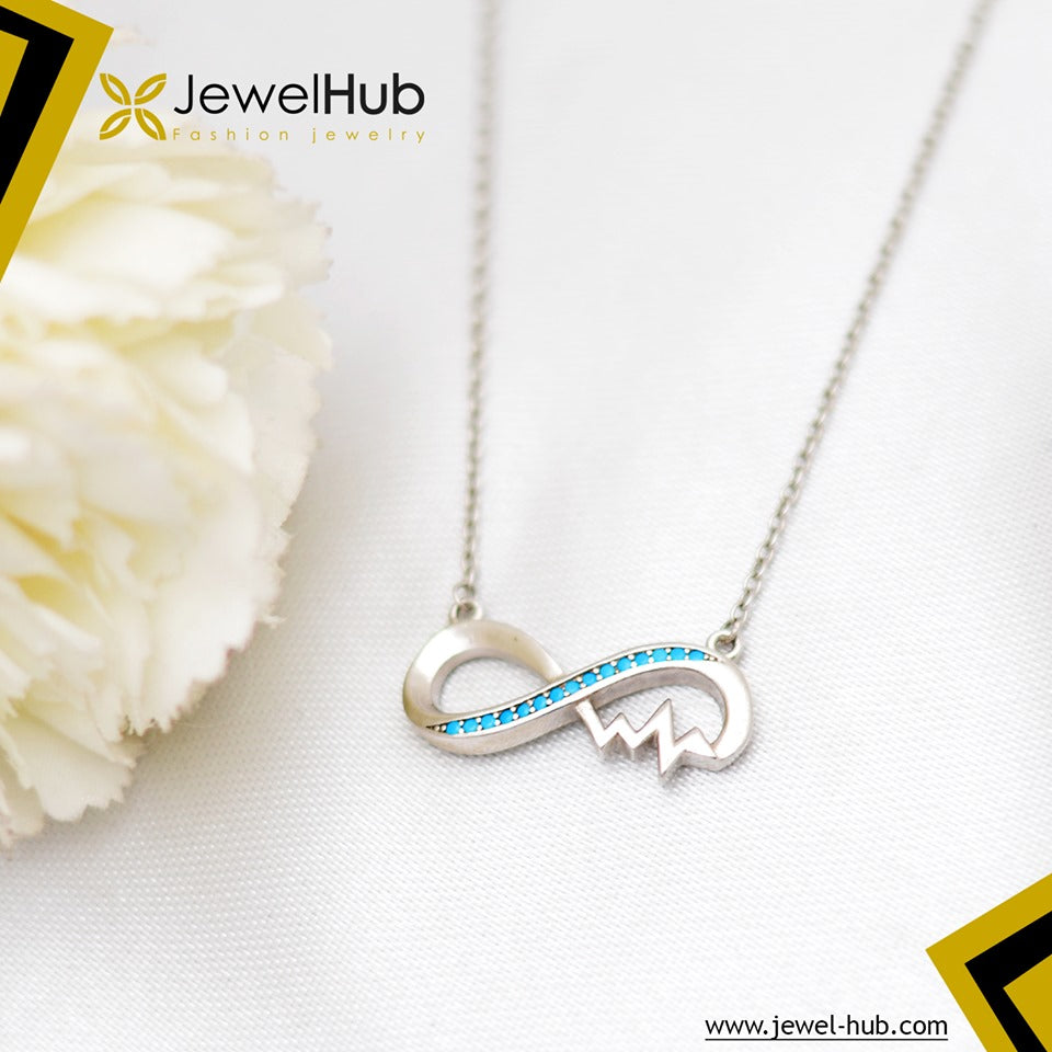 Infinity Nano Turquoise Silver Necklace