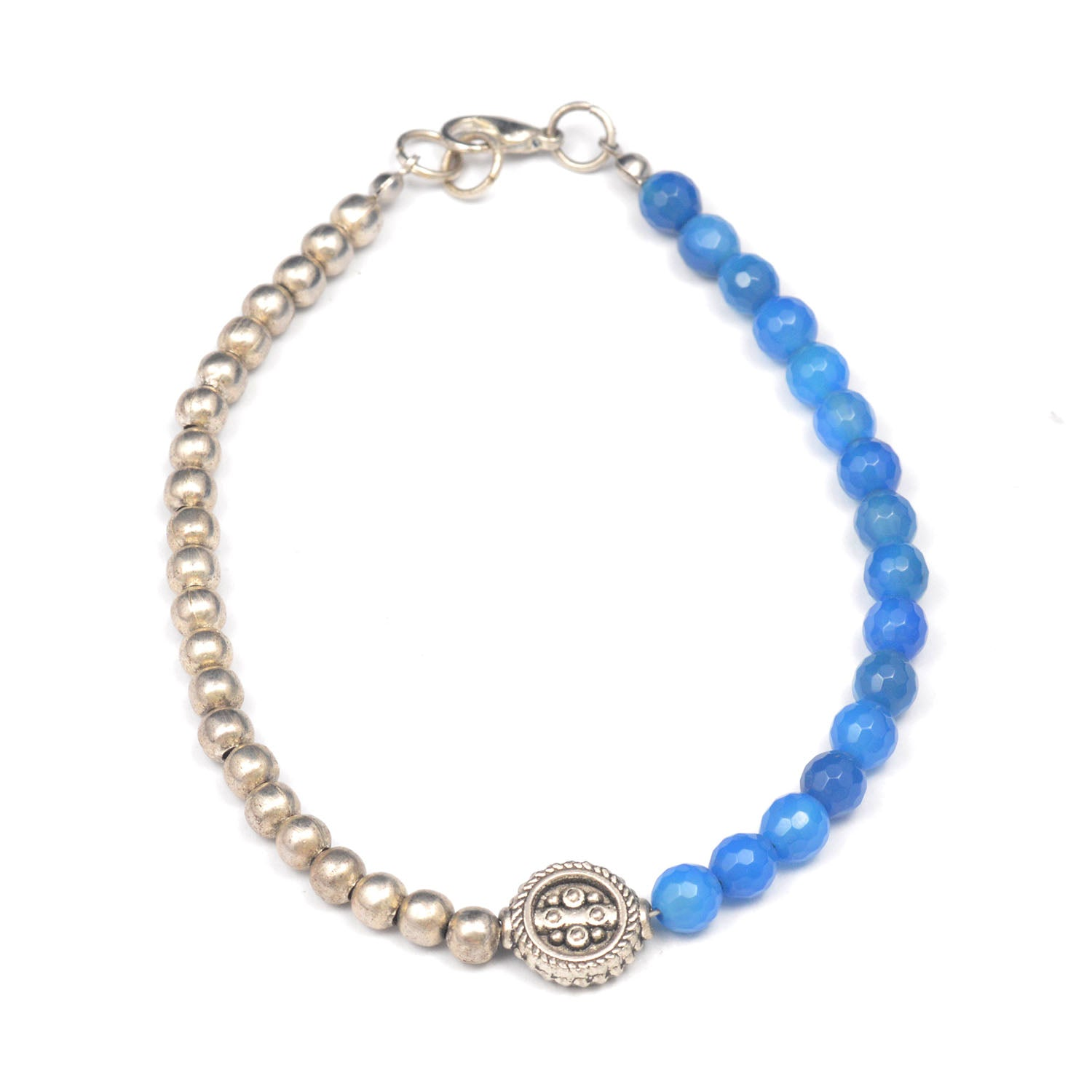 Grey & Blue Anklet