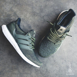 Lace Lab Olive/Black Rope Laces - Adidas Ultra Boost - 45""