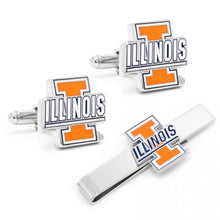 University of Illinois Cufflinks and Tie Bar Gift Set
