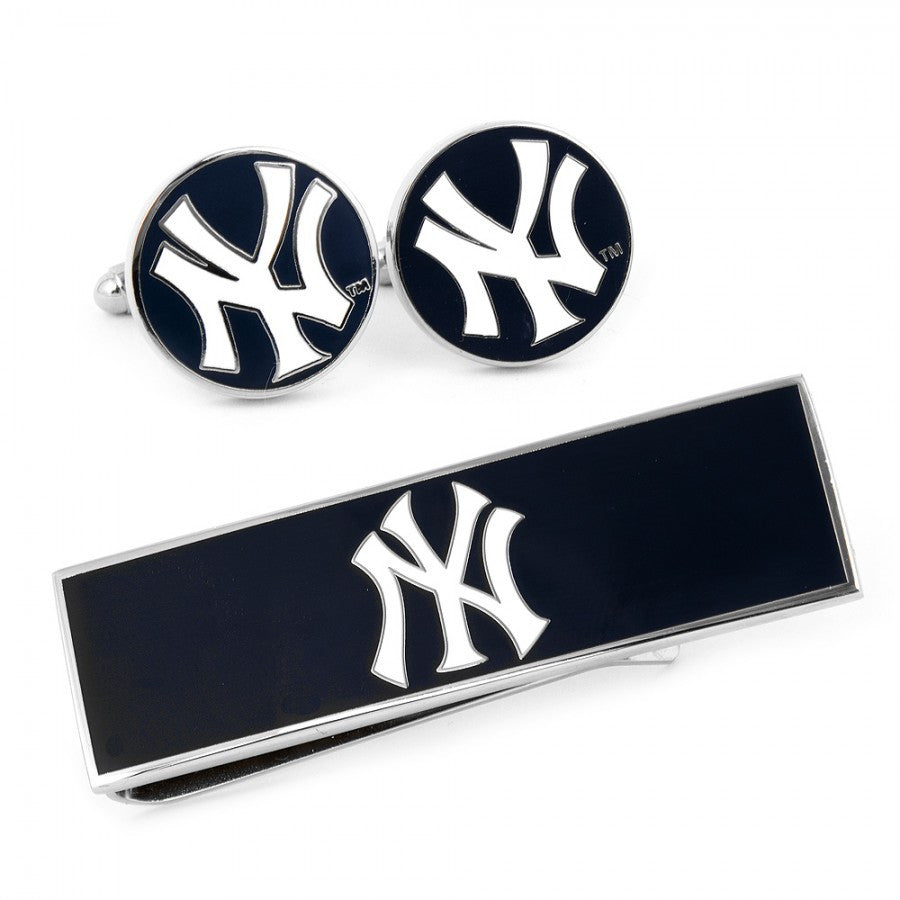 New York Yankees Cufflinks and Money Clip Gift Set