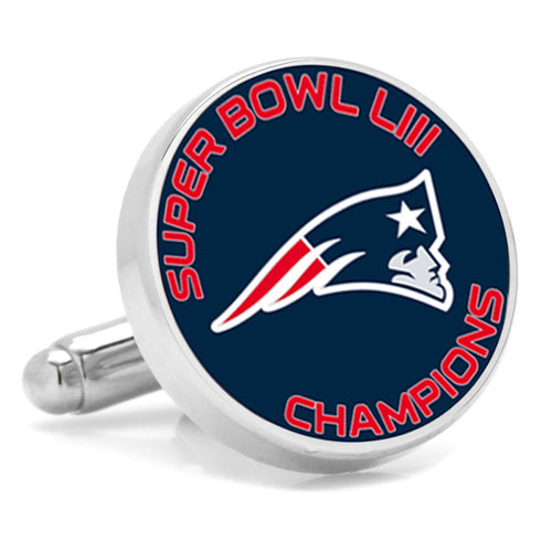 2019 New England Patriots Super Bowl Champions Cufflinks