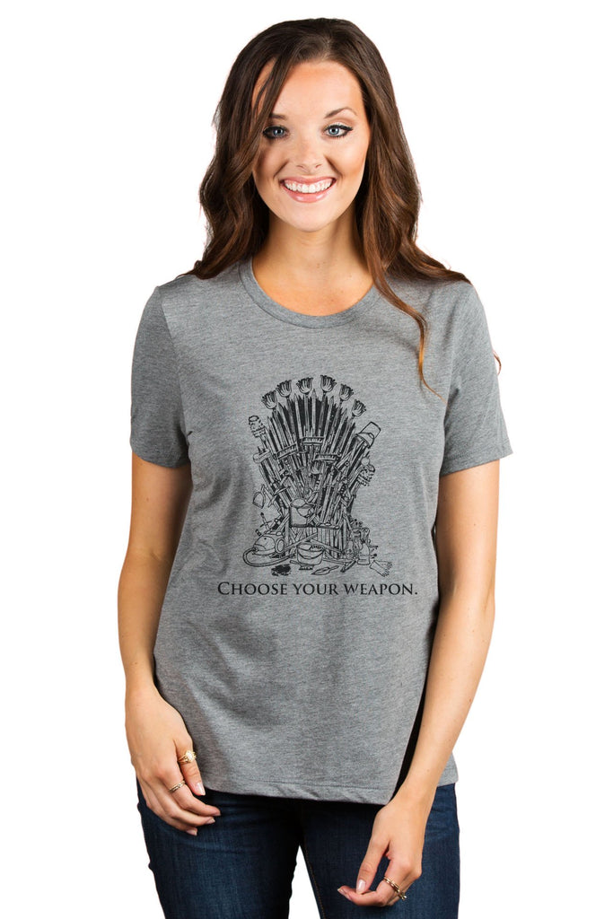 Choose Your Weapon Iron Throne - Thread Tank | Stories You Can Wear | T-Shirts, Tank Tops and Sweatshirts