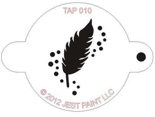 Tap Stencil, Feather