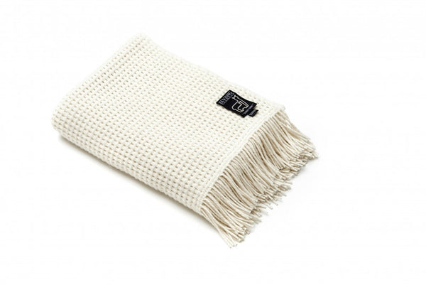 ELVANG BASKET PLAID THROW- OFF WHITE - Eclectic Cool