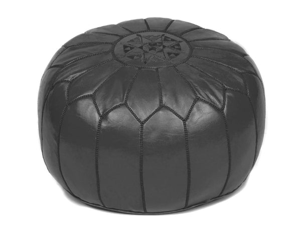 Morrocan Pouffe in Black - Eclectic Cool  - 1
