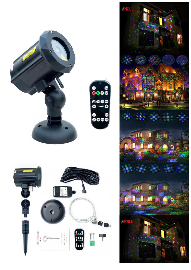 Motion Pattern 3 models in 1 Continuous 18 Patterns LEDMALL RGB Outdoor Laser Garden and Christmas Lights - LedMall