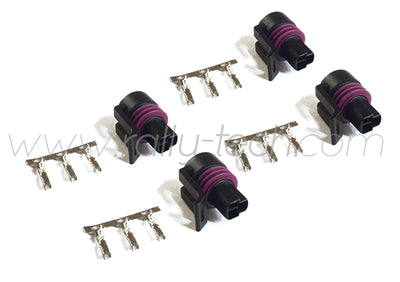 DELPHI STYLE 3 PIN PRESSURE SENSOR CONNECTOR PLUG - FOUR PACK - UNIVERSAL
