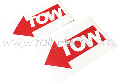 SAFETY DECAL - TOW DECAL STICKER SET - UNIVERSAL