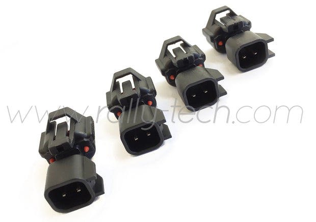 DENSO TO EV6 FUEL INJECTOR ADAPTER CONNECTOR PLUGS - UNIVERSAL