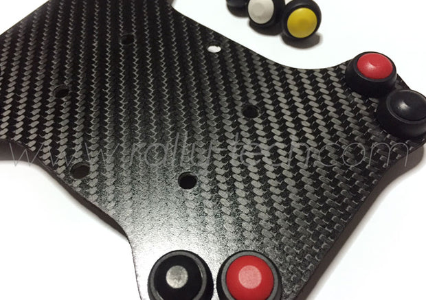 STEERING WHEEL BUTTON KIT COMPACT - UNIVERSAL - CARBON FIBER - 8 BUTTON